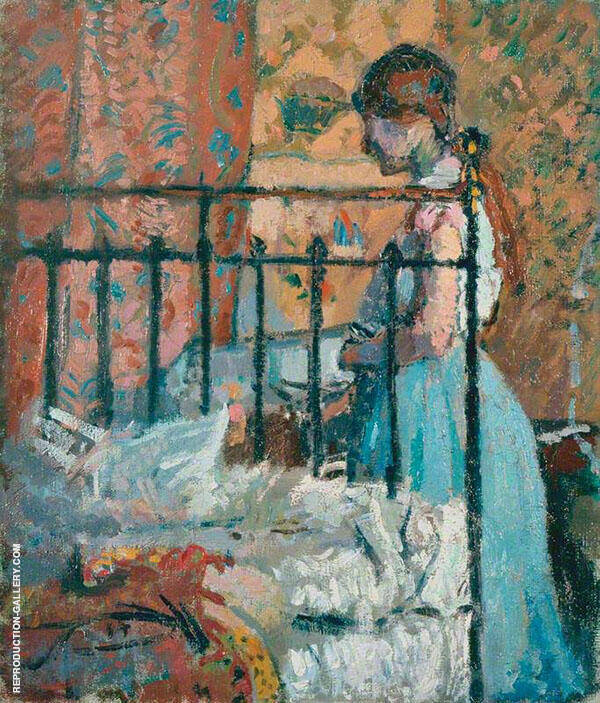 The Blue Petticoat Painting By Spencer Gore - Reproduction Gallery