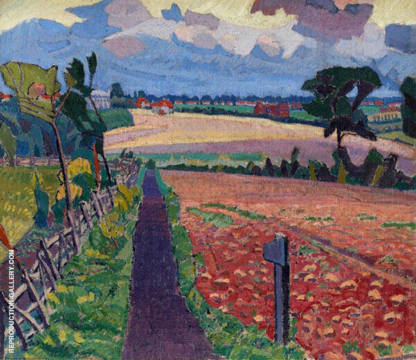 The Cinder Path 1912 Painting By Spencer Gore - Reproduction Gallery