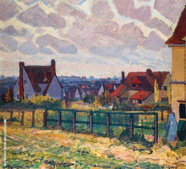 The Garden City Letchworth Painting By Spencer Gore - Reproduction Gallery