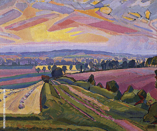 The Icknield Way 1912 Painting By Spencer Gore - Reproduction Gallery
