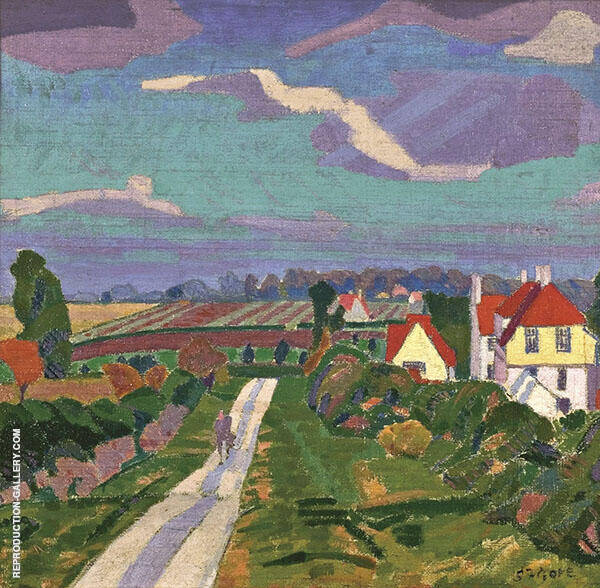 The Road 1912 Painting By Spencer Gore - Reproduction Gallery