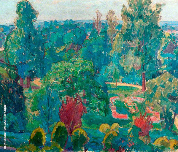 The Terrace Gardens Painting By Spencer Gore - Reproduction Gallery