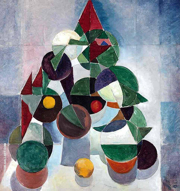 Composition 1 Still Life By Theo van Doesburg