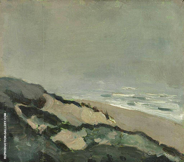 Dunes and Sea 1912 By Theo van Doesburg