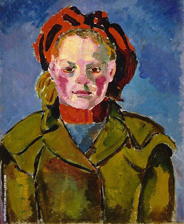 Portrait of a Girl c1915 By Theo van Doesburg