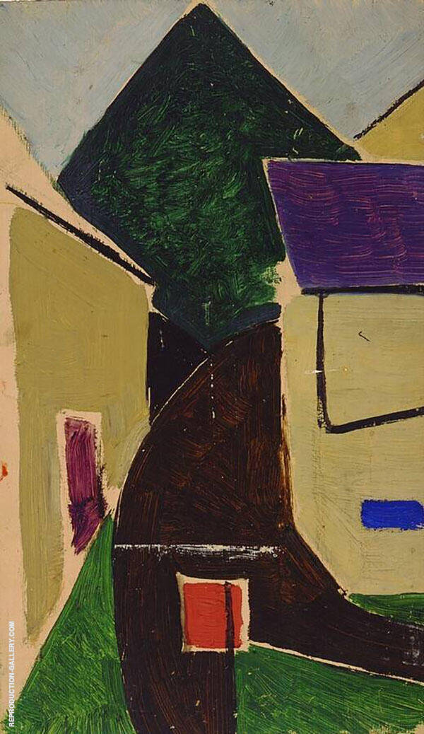 Uphill Street 1929 By Theo van Doesburg