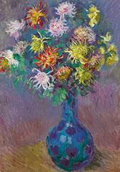 Vase of Chrysanthemums By Claude Monet