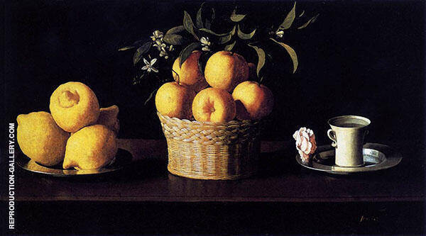 Still Life with Lemons, Oranges and a Rose, 1633 Painting By ...