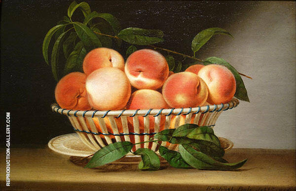 Bowl of Peaches by Bowl of Peaches 1816 by Raphaelle Peale | Oil Painting Reproduction Replica On Canvas - Reproduction Gallery
