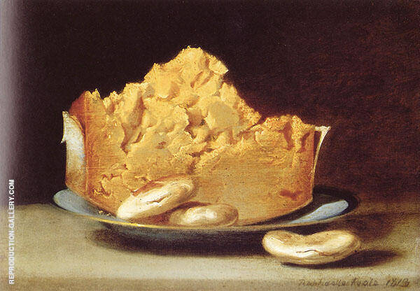 Cheese with Three Crackers 1818 by Raphaelle Peale | Oil Painting Reproduction Replica On Canvas - Reproduction Gallery