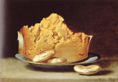 Cheese with Three Crackers 1818 By Raphaelle Peale
