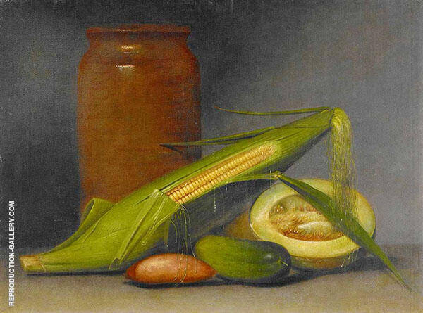 Corn and Cantaloup 1813 Painting By Raphaelle Peale - Reproduction Gallery
