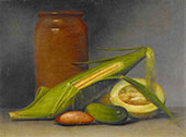 Corn and Cantaloup 1813 By Raphaelle Peale