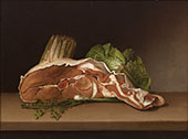 Cutlet and Vegetables By Raphaelle Peale
