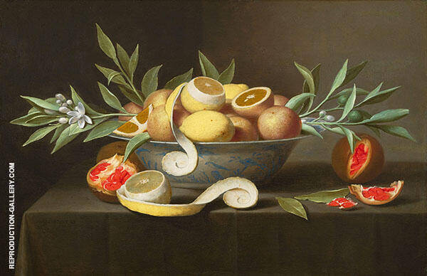 Still Life with Lemons, Oranges and Pomegranate c1660 Painting By ...