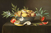 Still Life with Lemons, Oranges and Pomegranate c1660 By Raphaelle Peale