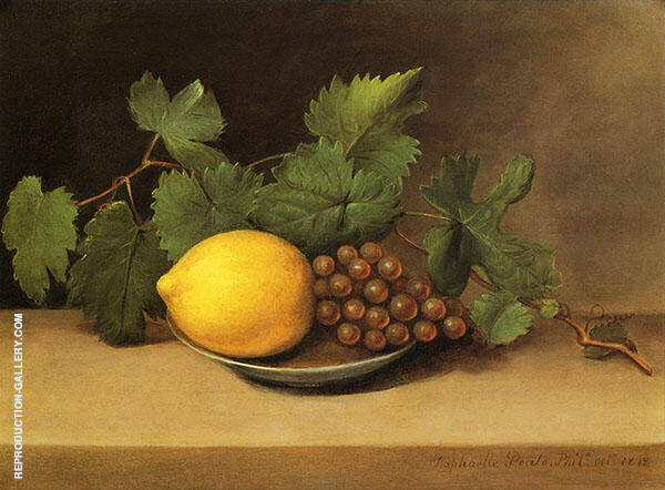 Lemon and Grapes 1818 Painting By Raphaelle Peale - Reproduction Gallery