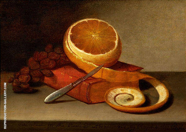 Orange and Book 1817 Painting By Raphaelle Peale - Reproduction Gallery