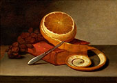 Orange and Book 1817 By Raphaelle Peale