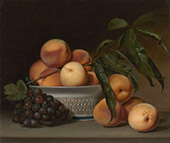 Peaches and Grapes in a Chinese Export Basket 1813 By Raphaelle Peale