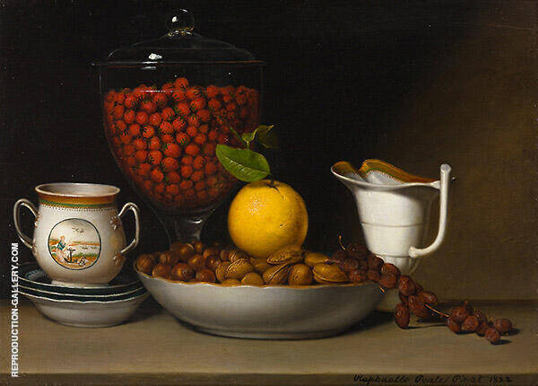 Still Life Strawberries Nuts 1822 Painting By Raphaelle Peale