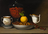 Still Life Strawberries Nuts 1822 By Raphaelle Peale