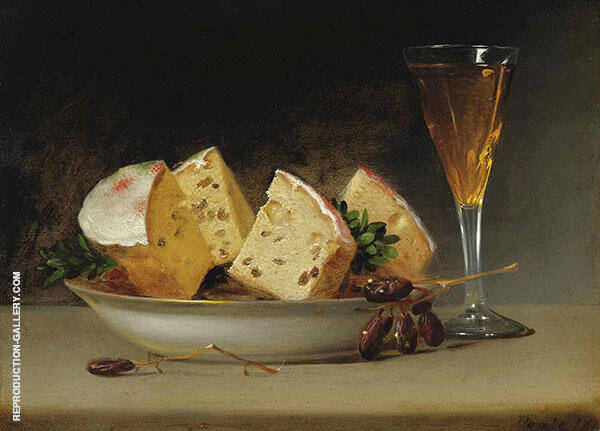 Still Life Currants and Biscuits 1813 by Raphaelle Peale | Oil Painting Reproduction Replica On Canvas - Reproduction Gallery