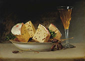 Still Life Currants and Biscuits 1813 By Raphaelle Peale