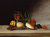 Still Life with a Wine Glass By Raphaelle Peale