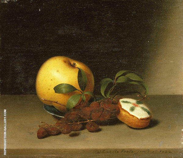Still Life with Cake 1822 by Raphaelle Peale | Oil Painting Reproduction Replica On Canvas - Reproduction Gallery