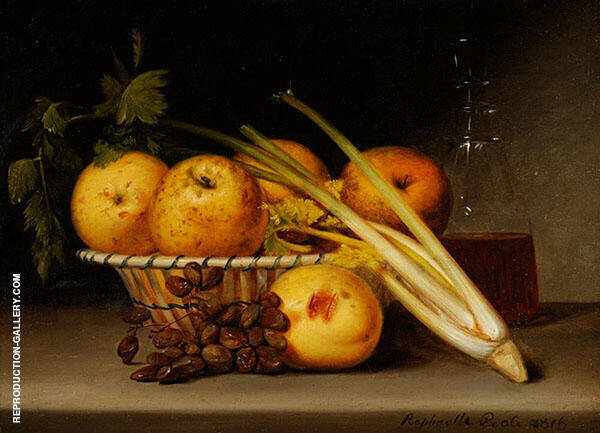 Still Life with Celery and Wine Painting By Raphaelle Peale
