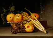 Still Life with Celery and Wine By Raphaelle Peale