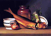 Still Life with Dried Fish By Raphaelle Peale