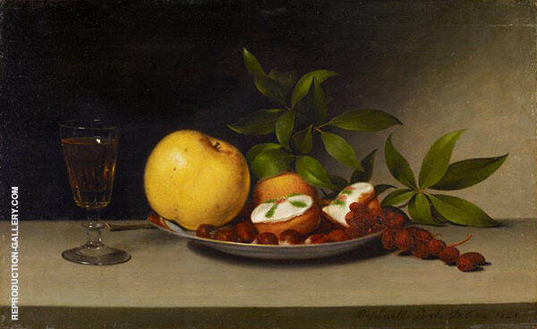 Still Life with Fruit Cakes and Wine 1821 by Raphaelle Peale | Oil Painting Reproduction Replica On Canvas - Reproduction Gallery