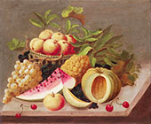 Still Life with Melon and Grapes By Raphaelle Peale