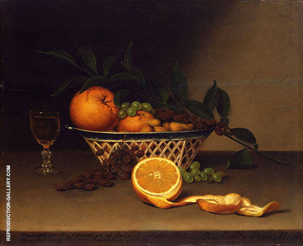Still Life with Oranges 1818 by Raphaelle Peale | Oil Painting Reproduction Replica On Canvas - Reproduction Gallery