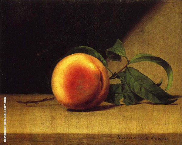 Still Life with Peach by Raphaelle Peale | Oil Painting Reproduction Replica On Canvas - Reproduction Gallery