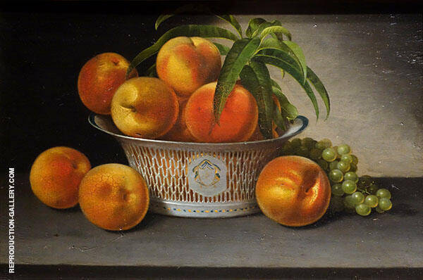 Still Life with Peaches 1821 Painting By Raphaelle Peale