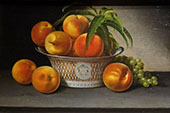 Still Life with Peaches 1821 By Raphaelle Peale