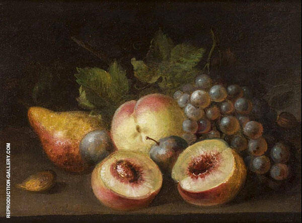 Still Life with Peach Halves 1822 by Raphaelle Peale | Oil Painting Reproduction Replica On Canvas - Reproduction Gallery
