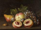 Still Life with Peach Halves 1822 By Raphaelle Peale