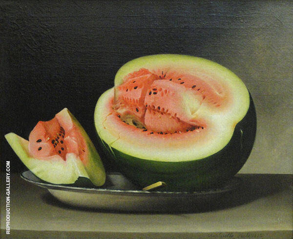 Still Life with Water Melon by Raphaelle Peale   Oil Painting Reproduction Replica On Canvas - Reproduction Gallery