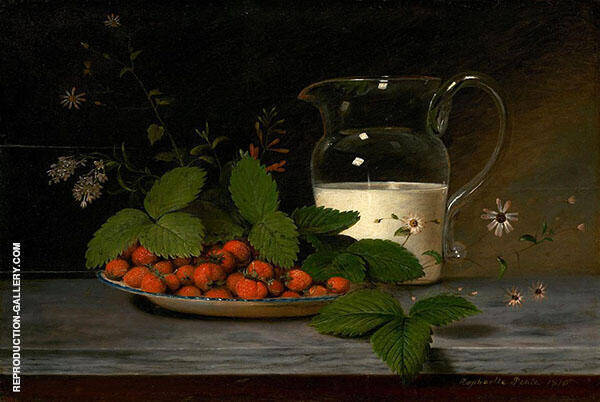 Strawberries and Cream by Raphaelle Peale | Oil Painting Reproduction Replica On Canvas - Reproduction Gallery