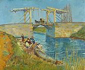 Bridge at Arles Pont de Langlois 1888 By Vincent van Gogh