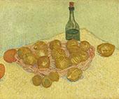 Basket of Lemons and Bottle By Vincent van Gogh