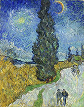 Country Road in Provence by Night 1890 By Vincent van Gogh