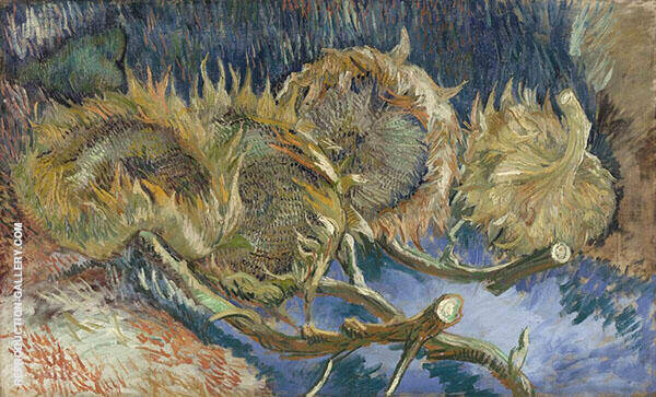 Four Cut Sunflowers Painting By Vincent van Gogh - Reproduction Gallery