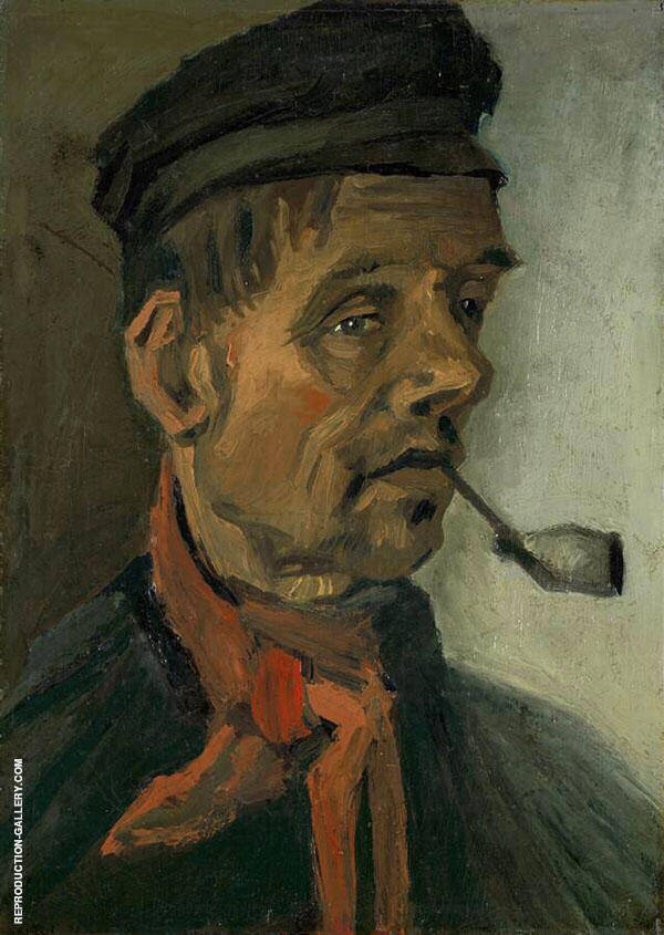 Head of a Man with a Pipe 1885 Painting By Vincent van Gogh