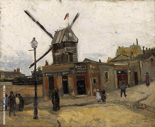 Moulin de la Galette 1886 By Vincent van Gogh