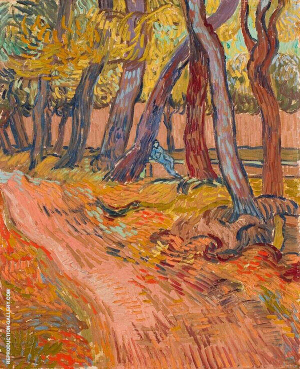 Path in The Garden of The Asylum 1889 By Vincent van Gogh